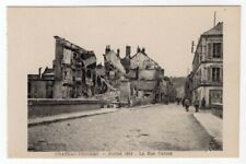 1918 RPPC Chateau Thierry July 1918 Carnot Street Original Postcard