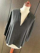 orig. HELMUT LANG Bluse Top Seide Kimono schwarz XS S 36