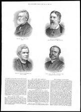 1885 PORTRAITS James Fahey Mr F Palsgrave Rev J S Howson Ven Henry Johnson (199)