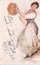NAPOLI - COSTUMI NAPOLETANI - Ballerina - Emilio Prass 1907