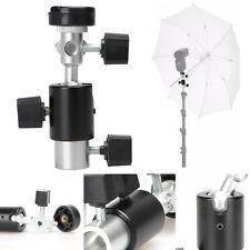 Photo Flash Adapter Hot Shoe Swivel Light Stand Mount Umbrella Holder Bracket