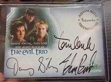 Buffy Men of Sunnydale The Evil Trio Auto Card A11 Mint