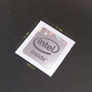 Intel inside Sticker 13.5mm x 14.5mm - Haswell Silver Version