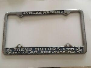Trend Motors ROUTE 46-ROCKAWAY N.J. Vintage VW License Plate Frame