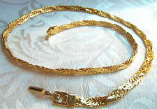 Trifari Goldplated chain Choker  Necklace Estate Jewelry Gorgeous