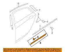 HYUNDAI OEM 11-15 Sonata Rear Door Body Side-Lower Molding Trim Left 877214R000