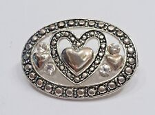 Heart Pin - Brooch A74) Premier Designs Oval