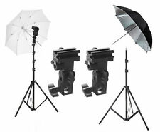Studio Lighting Kit Umbrella Photo Photography Tripod Flash Light Stand Bracket