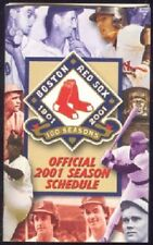 BOSTON RED SOX 2001 POCKET SCHEDULE BABE RUTH TED WILLIAMS JIM RICE JOE WOOD ac
