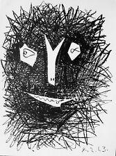 PICASSO -   ORIGINAL LITHOGRAPH BACK COVER OF PICASSO LITHOGRAPHIC IV - 1964