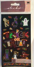 "Sticko ""Neon Trick Or Treat "" Halloween Stickers"