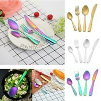 4pcs Portable Travel Tableware Set Stainless Steel Spoon Fork Knife Cutlery