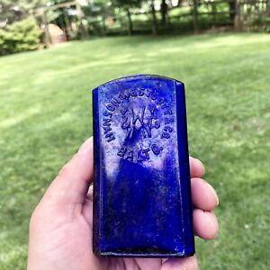 Blown Medicine Bottle Hynson Westcott & Co Baltimore MD Cobalt Blue Rare As-Is