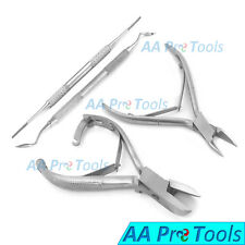 Pedicure Manicure Set Nail Clippers Cuticle Nippers Side Cutter Excavator 4Pcs