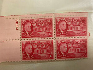 Roosevelt Little White House Warm Spring 2 Cent Postage Stamps (4) WWII Era 1945