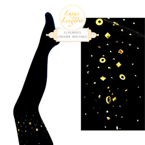 Ginger Tights By Wolford For Agent Provocateur ✨ XS S M L Gold Black ✨ Limited