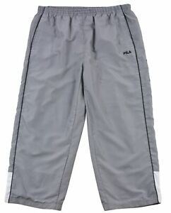 Fila Men's Mesh Lined Activewear Sport Short Pants Elastic Waist Pull-On UK-XXL