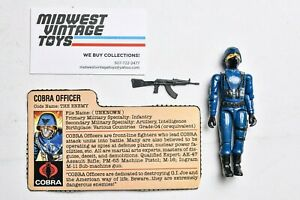 Vintage GI JOE ACTION FIGURE 1982 Straight Arm Cobra Officer 100% Complete