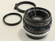 Canon 35mm f2 LTM with TAAB focus tab, 40mm UV filter, 3D printed viewfinder L39