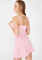 Dolls Kill Sugar Thrillz Marabou Pink Dress S NWT