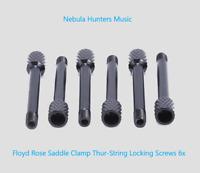 Floyd Rose Brass Tremolo Bridge Saddle Clamp Locking String-Thru Screws Black 6x