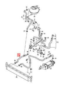 Genuine AUDI SEAT SKODA VW A1 Ibiza ST Toledo Fabia Coolant Hose 6C0122051B