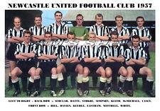 NEWCASTLE UNITED F.C.TEAM PRINT 1957 (WHITE/SIMPSON/DAVIES/CASEY)