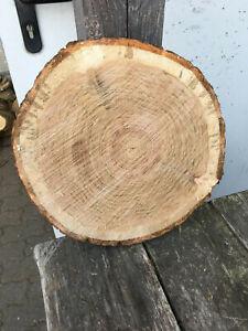 Baumscheibe, Holzscheibe, Tischplatte ca. 30 x 3 cm, Roteiche, Eiche