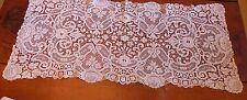 up BRUSSELS LACE RUNNER, VINTAGE, 36 X 16""