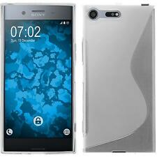 Silikon Hülle für Sony Xperia XZ Premium clear S-Style + 2 Schutzfolien