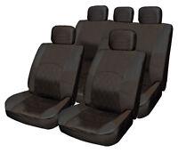 ALL Black Cloth Seat Cover Full Set Split Rear fits VW Scirocco Tiguan Caddy