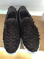 Traumhafte Tory Burch Slipper Sneaker Rosen, 40.5 - 41 /10.5, Braun,Bordeaux