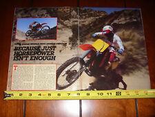 1984 HONDA CR500R - ORIGINAL ARTICLE