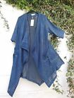 "QUIRKY SEMI WATERFALL JACKET 3/4 SLEEVES OSFA TO 46"" BUST BNWT LAGENLOOK ETHNIC"