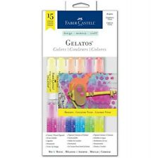 Faber-Castell Gelatos® Colors 15 Piece BRIGHTS  #770169 ~ KNOCKOUT CRAFTS