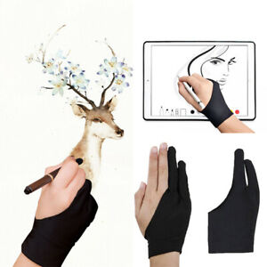 1pcs Artist Drawing Glove Low Friction Tablet Art Student 2 Fingers Non Smudge