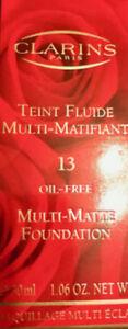 MHI CLARINS MULTI-MATTE FOUNDATION OIL-FREE  13 CHESTNUT BROWN