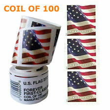 100 Pcs/Roll Stamp USPS 2017 US Flag Forever Postage Stamps Free & Fast Shipping