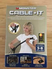 Monster Cable It - Cable Management Kit Medium 8FT Long  Brand New  Charity Sale
