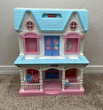 Vintage 1993 Fisher Price Loving Family Dream Dollhouse Folding Doll House 6364