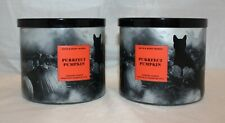 2 Bath & Body Works Purrfect Pumpkin 3 Wick Large Scented Candle