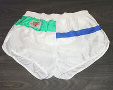 NEW S Mens Very Rare VIGA White Nylon See Through Sports Shorts Gym Swim RUN.48