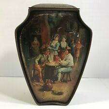 Huntley Palmers Antique Biscuit Tin London England Grand Prize Paris 1878-1900