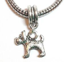 DOG_Bead for European Chain Charm Bracelet_Pet Puppy Pup Canine Toto Oz Silver