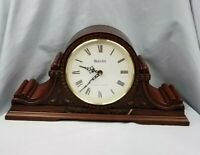 Vintage Bulova Hermle Movement Mantel Clock Westminster & Ave Maria Chimes