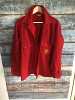 Vintage BOY SCOUTS OF AMERICA OFFICIAL RED WOOL COAT JACKET - Men's Large