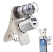 60X ZOOM OBIETTIVO MICROSCOPIO LENTE INGRANDIMENTO MICRO LENS iPhone Smartphone