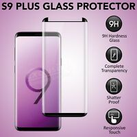 Genuine Tempered Glass Screen Protector For Samsung Galaxy S9 Plus - Black Color
