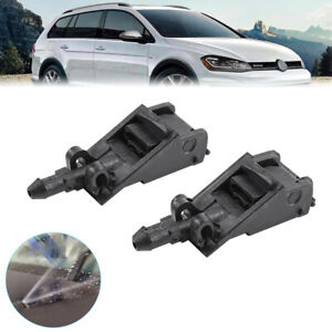 Front Windshield Washer Wiper Nozzle Jets Fits Volkswagen For Touareg 2004-2010