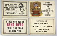 Vintage Funny Humor Postcard Lot of 4 - c 1969 The Paula Company Ohio - Unposted